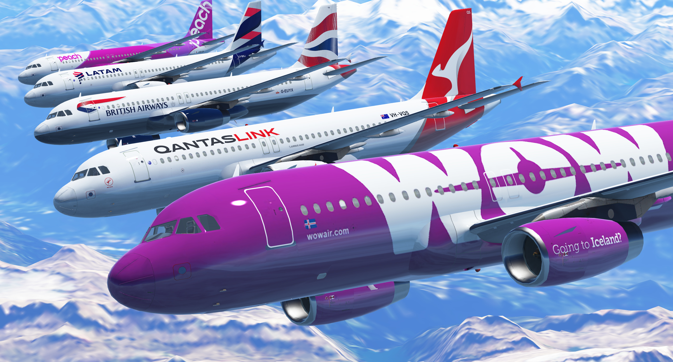 New A320 Liveries Available!